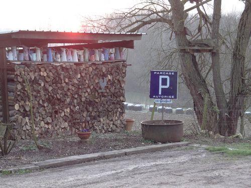 mur de bois lever soleil