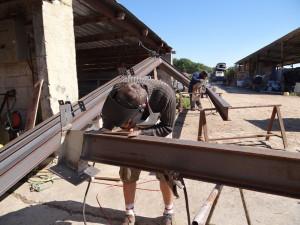 Quatrième ferme en cours de fabrication
